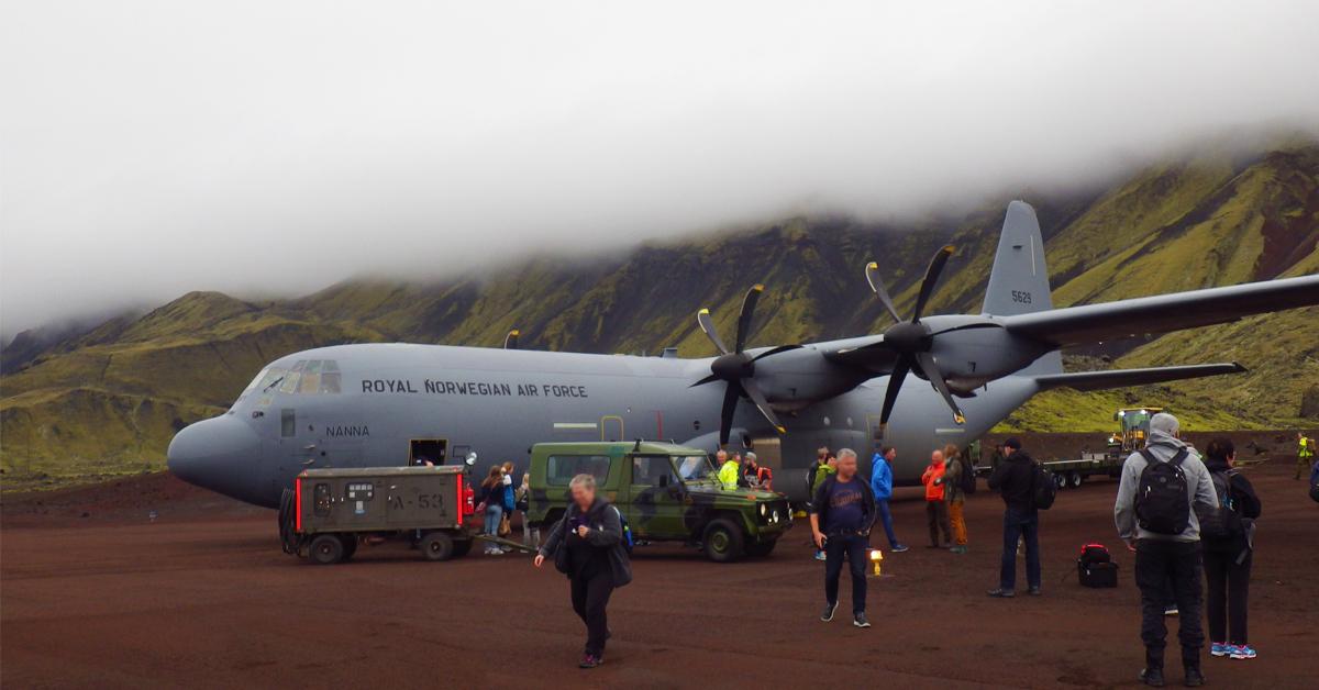 Flyet Nanna fraktet vår mann, Svein Ove Løseth, trygt frem til Jan Mayen.
