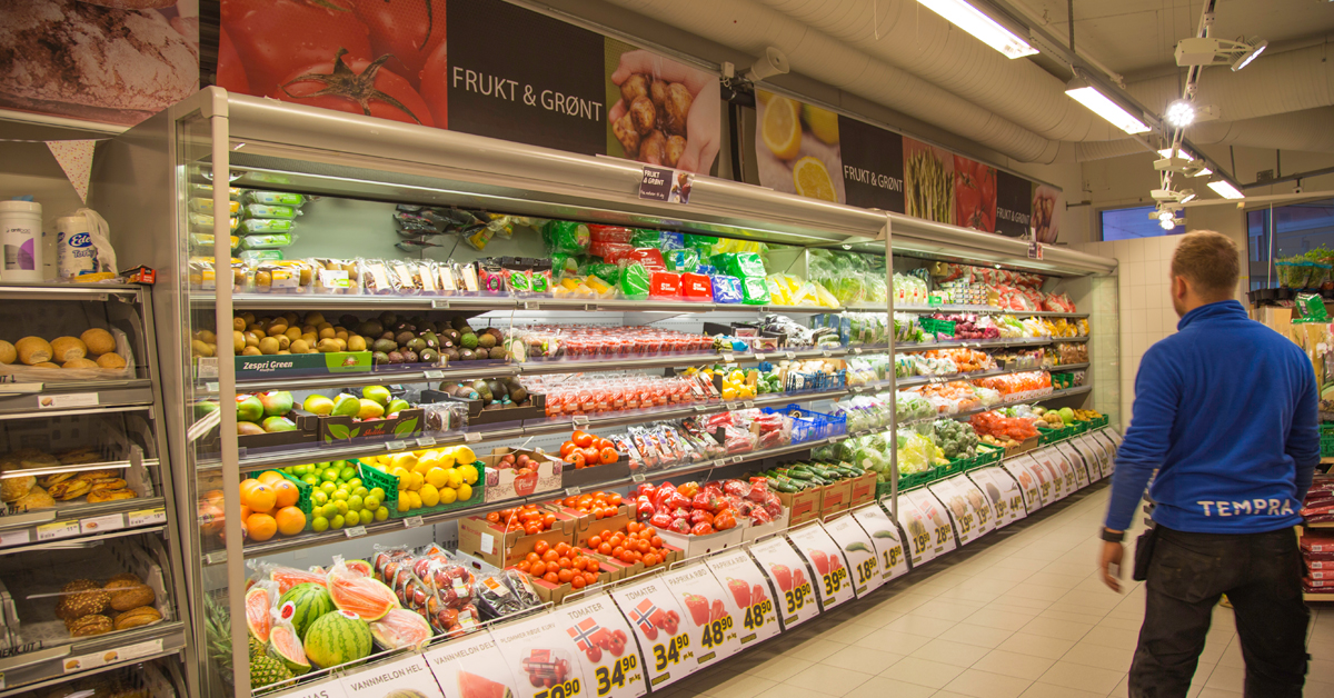 God kjøling og riktig temperatur bevarer grønnsaker lenger.