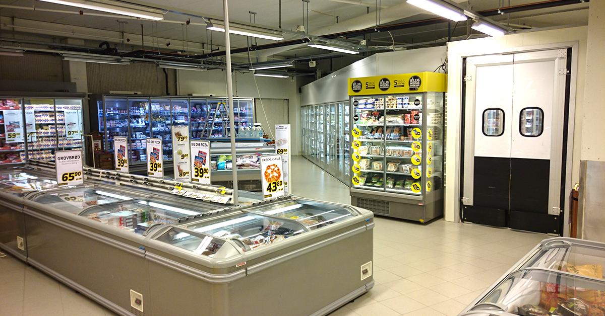 Nytt kjølerom som kan betjenes fra både hovedbutikken og søndagsbutikken.