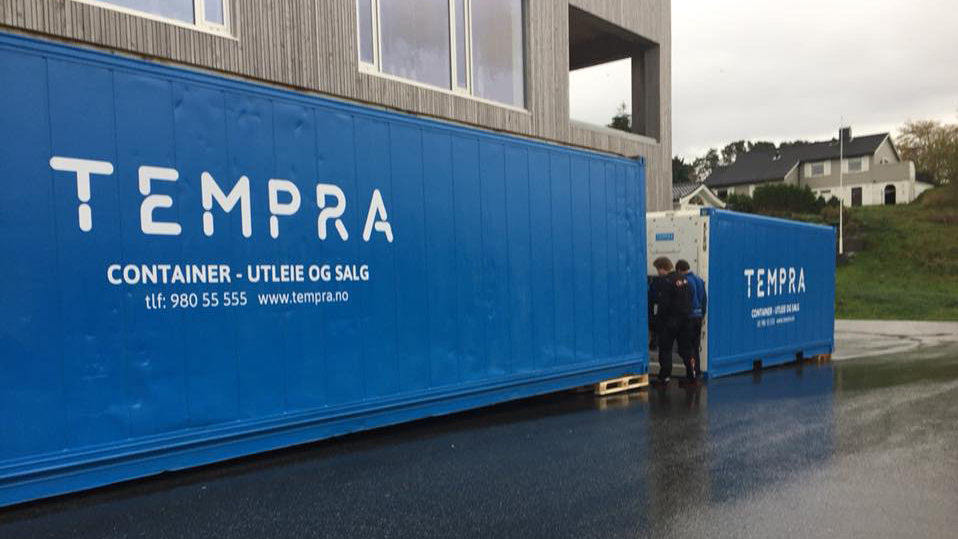 Kiwi Klokkersund brukte kjøle- og frysecontainere fra Tempra når de oppgraderte butikken i høst.